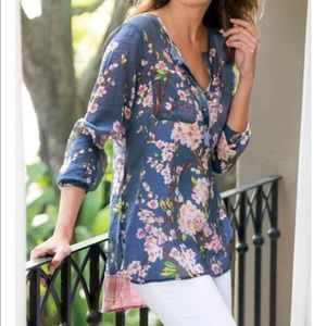 Soft Surroundings Cherry Blossoms Floral Tunic